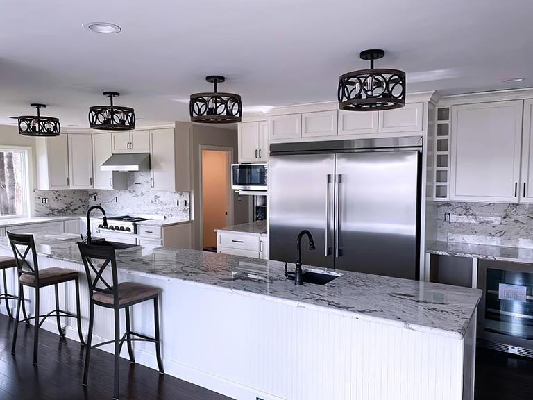 Atlantic Granite, Maine Granite, Quartz, Porcelain, Kitchen